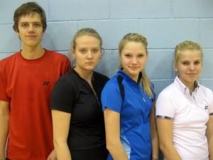 Sigulda turniiri medalivõitjad: Mikk, Kristin, Kati-Kreet, Helina.